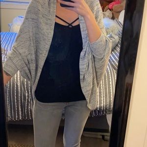 🔥light gray cover up/cardigan. Large